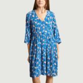 Sabrina Antoine Et Lili Antoine et Lili - Blue Viscose Flower Dress - blue | viscose | 1 - Blue/Blue