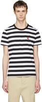 Burberry Black Striped Torridge T-Shirt