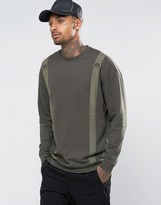 Asos Oversized Longline Sweatshirt With Taping