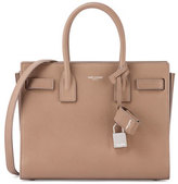Saint Laurent Sac de Jour Baby Grain Leather Satchel Bag, Taupe