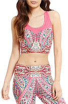 Nanette Lepore Play Compression Racerback Crop Top