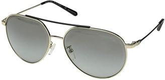 Michael Kors 0MK1041 60mm (Shiny Pale Gold/Light Grey Gradient) Fashion Sunglasses