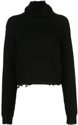 RtA ribbed roll-neck jumper