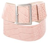 Herve Leger Embossed Leather Belt