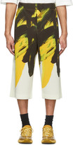 Issey Miyake Homme Plisse Yellow and Black Action Paint Shorts