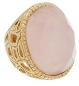 Rivka Friedman 18k Clad Quartz Ring.