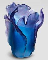 Daum Blue Tulip Vase