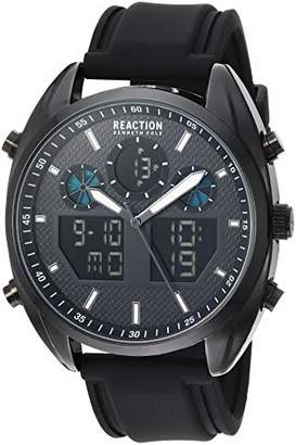 Kenneth Cole Reaction Men's ANA-DIGIT Analog-Quartz Watch with Leather-Synthetic Strap