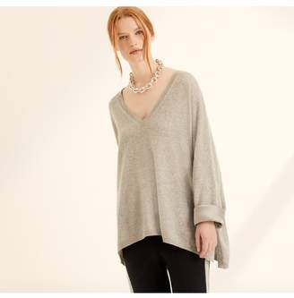 Amanda Wakeley Hutton Grey Cashmere Boyfriend Top