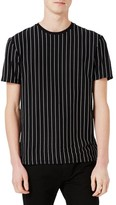 Topman Men's Vertical Stripe T-Shirt