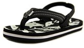 Reef Ahi Glow Toddler Open Toe Synthetic Black Flip Flop Sandal.