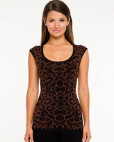 Le Château Viscose Blend Animal Print Sweater