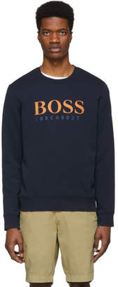 BOSS Navy Logo Sweatshirt