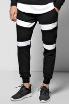 Boohoo Skinny Fit Colour Block Biker Joggers
