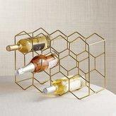 Crate & Barrel 11-Bottle Gold Wine Rack