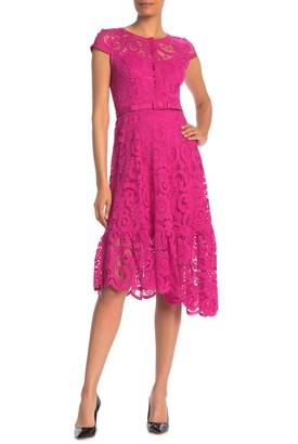 Nanette Nanette Lepore Cap Sleeve Lace Dress (Regular & Plus Size)
