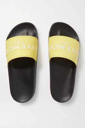 Givenchy Logo-print Rubber Slides - Pastel yellow