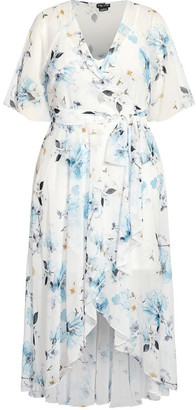 City Chic Shy Orchid Maxi Dress - white