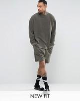 Asos Loungewear Drop Crotch Short In Towelling
