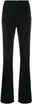 Norma Kamali High Waisted Straight-Leg Trousers