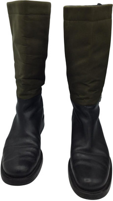 Prada Green Leather Boots