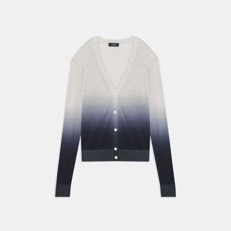 Theory Ombre Cardigan in Linen Blend