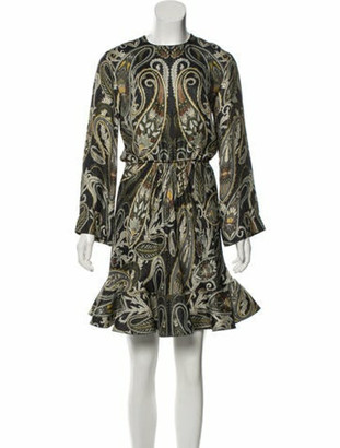 Chloé Silk Mini Dress w/ Tags grey