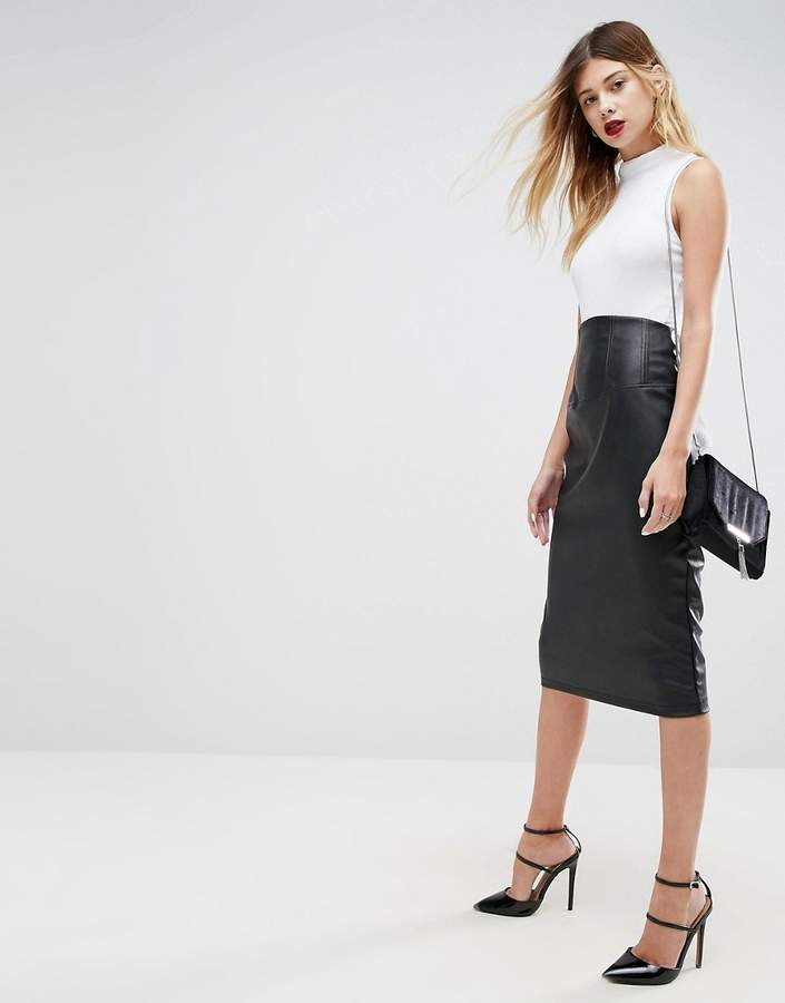024250402ad9 New Look Leather Skirt - ShopStyle UK