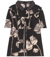 Marc Jacobs SILK BLOUSE WITH FLORAL PRINT AND RUFFLES