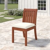 Birch Lane Birch LaneTM Heritage Rossi Patio Dining Chair with Cushion Heritage Cushion Color: White