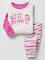 Gap Nap stripe sleep set