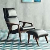 west elm Contour Mid-Century Leather Chair