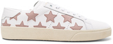 Saint Laurent Leather Court Classic Star Sneakers