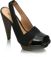 KG Slingback With Wooden Heel & Platform