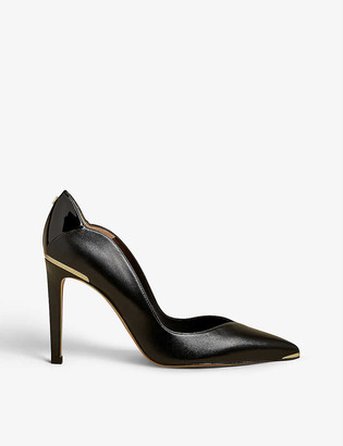 Ted Baker Dayslip scalloped leather courts