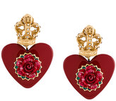 Dolce & Gabbana heart resin earrings