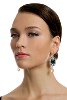 Anton Heunis Entrapping Emerald Stone Drop Earrings
