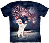 The Mountain Fireworks Puppy Adult Short Sleeve T-Shirt