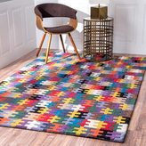 nuLoom Handmade Wool Puzzle Kids Multi Rug (5' x 8')