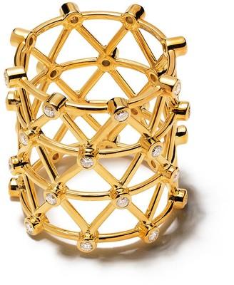 Patcharavipa 18kt Siam Yellow Gold Diamond Zigzag Ring