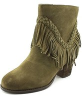 Sbicca Patience Women Round Toe Leather Tan Bootie.