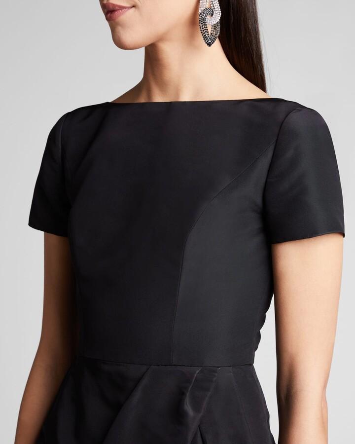 Thumbnail for your product : Carolina Herrera Icon Bateau Neck Short-Sleeve Dress