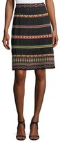 M Missoni Geometric Ribbon-Striped Skirt