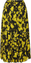 Rochas Floral Pleated Midi Skirt