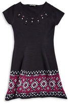 Planet Gold Girls 7-16 Embellished Knit Dress
