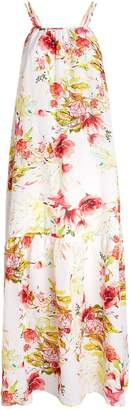 120% Lino 120 Lino Floral Maxi Dress