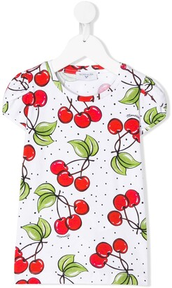 MonnaLisa cherry-print T-shirt