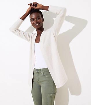 LOFT Shirttail Open Cardigan