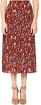 Willow & Clay Women's Pleated Print Skirt