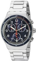 Swatch Men's 'Swatchour' Quartz Stainless Steel Watch, Color:Silver-Toned (Model: YVS426G)